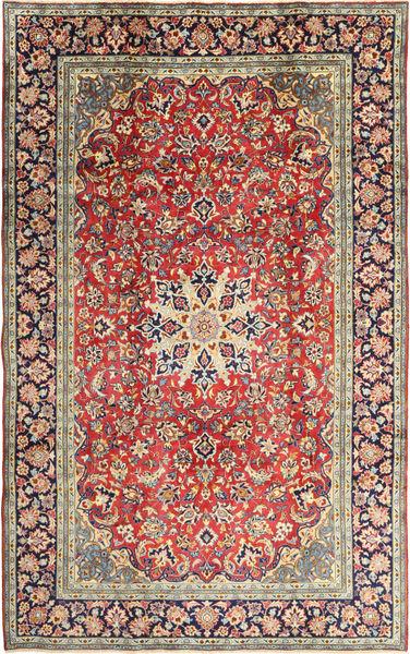 Najafabad Matto 200X322 Itämainen Käsinsolmittu Ruskea/Vaaleanruskea (Villa, Persia/Iran)