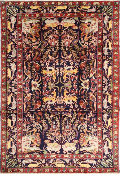Bakhtiyar Figurativa/Gráfica Alfombra 231X332 Oriental Hecha A Mano Púrpura Oscuro/Marrón (Lana, Persia/Irán)