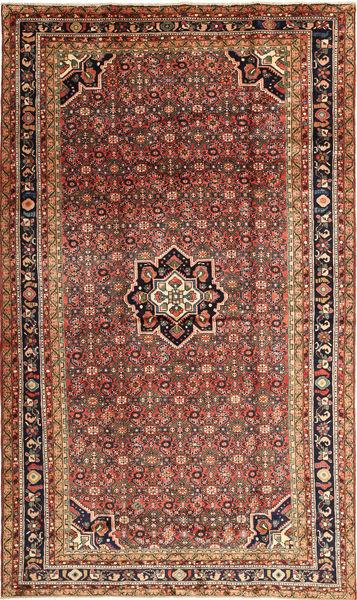 Hosseinabad Matto 220X375 Itämainen Käsinsolmittu Tummanruskea/Tummanpunainen (Villa, Persia/Iran)
