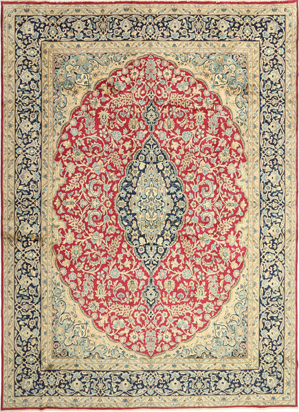 Kerman Rug 272X380 Authentic  Oriental Handknotted Dark Grey/Dark Beige Large (Wool, Persia/Iran)