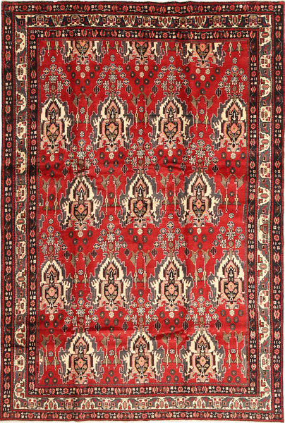 Afshar Rug 200X305 Authentic  Oriental Handknotted Rust Red/Dark Red (Wool, Persia/Iran)