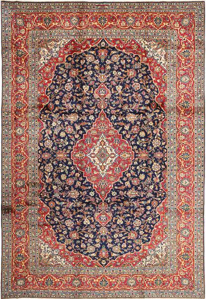 Keshan Matto 252X365 Itämainen Käsinsolmittu Tummanvioletti/Tummanpunainen Isot (Villa, Persia/Iran)
