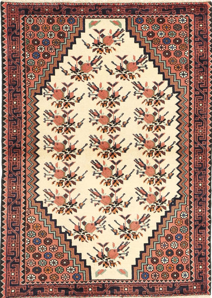 Saveh Matto 100X145 Itämainen Käsinsolmittu Beige/Vaaleanruskea (Villa, Persia/Iran)