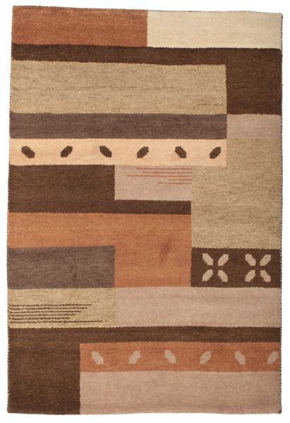 Gabbeh Indo Rug 123X181 Authentic  Modern Handknotted Light Brown/Brown (Wool, India)