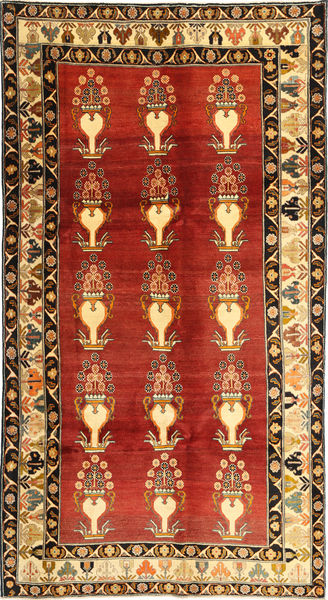 Qashqai Rug 170X318 Authentic  Oriental Handknotted Rust Red/Dark Brown (Wool, Persia/Iran)