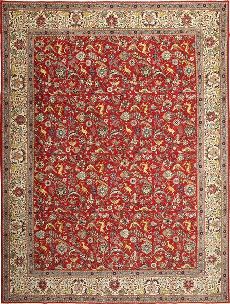Tabriz Patina Matto 290X390 Itämainen Käsinsolmittu Vaaleanruskea/Ruoste Isot (Villa, Persia/Iran)