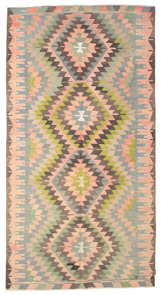 Kilim Semi Antique Turkish Rug 172X326 Authentic  Oriental Handwoven Light Brown/Light Pink (Wool, Turkey)
