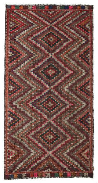 Kilim Pół -Antyk Tureckie Dywan 168X324 Orientalny Tkany Ręcznie Ciemnoczerwony/Ciemnobrązowy (Wełna, Turcja)
