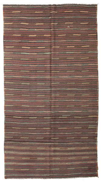 Kelim Semiantik Turkisk Matta 183X344 Äkta Orientalisk Handvävd Ljusbrun/Mörkgrå (Ull, Turkiet)
