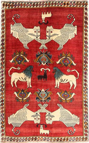 Ghashghai Matta 129X205 Äkta Orientalisk Handknuten Roströd/Beige (Ull, Persien/Iran)