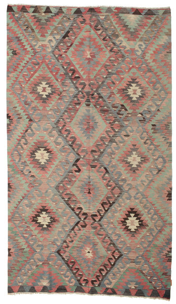 Kilim Semi Antique Turkish Rug 176X306 Authentic  Oriental Handwoven Dark Grey/Brown (Wool, Turkey)