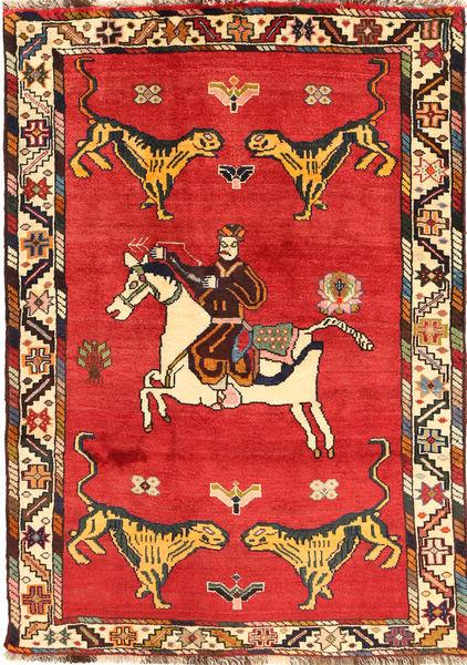 Kaszkaj Dywan 120X170 Orientalny Tkany Ręcznie Rdzawy/Czerwony/Pomarańczowy (Wełna, Persja/Iran)