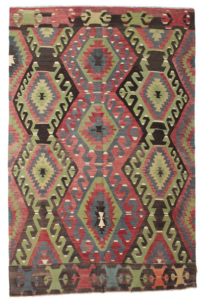 Tapis Kilim semi-antique Turquie XCGZK574