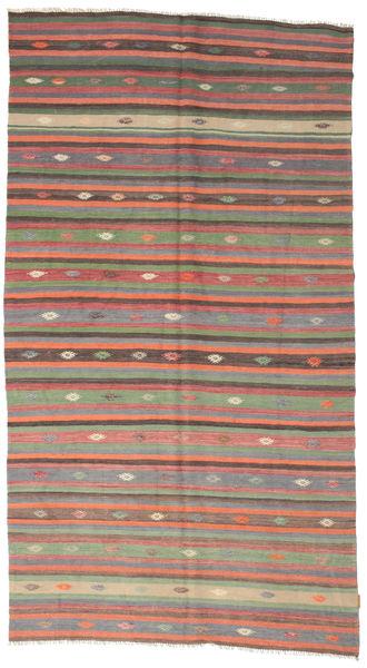 Kilim Pół -Antyk Tureckie Dywan 166X301 Orientalny Tkany Ręcznie Ciemnoszary/Jasnoszary (Wełna, Turcja)