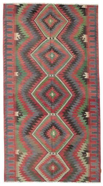 Kilim Semi Antique Turkish Rug 173X320 Authentic  Oriental Handwoven Dark Grey/Rust Red (Wool, Turkey)