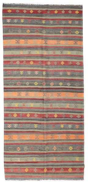 Kilim Pół -Antyk Tureckie Dywan 140X305 Orientalny Tkany Ręcznie Rdzawy/Czerwony/Ciemnoszary (Wełna, Turcja)
