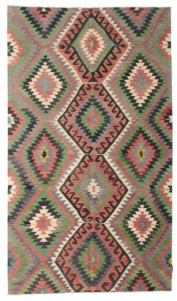 Kilim Pół -Antyk Tureckie Dywan 174X302 Orientalny Tkany Ręcznie Ciemnoszary/Zielony/Oliwkowy (Wełna, Turcja)