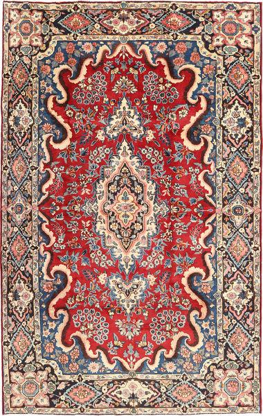カシャン 絨毯 190X304 オリエンタル 手織り 濃い茶色/薄茶色 (ウール, ペルシャ/イラン)