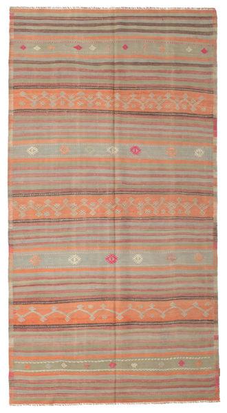Kelim Semiantiikki Turkki Matto 167X313 Itämainen Käsinkudottu Vaaleanruskea/Ruskea (Villa, Turkki)