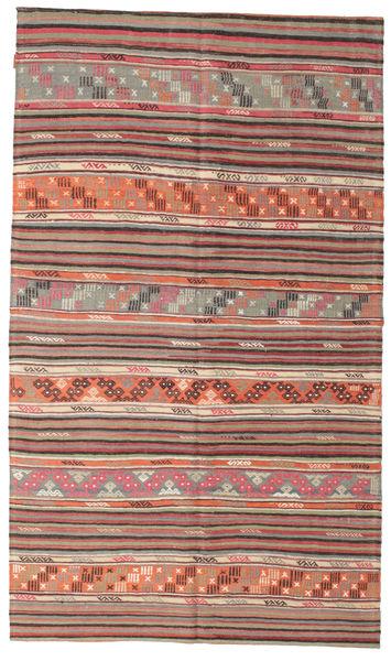 Kelim Semiantiikki Turkki Matto 166X286 Itämainen Käsinkudottu Vaaleanruskea/Violetti (Villa, Turkki)