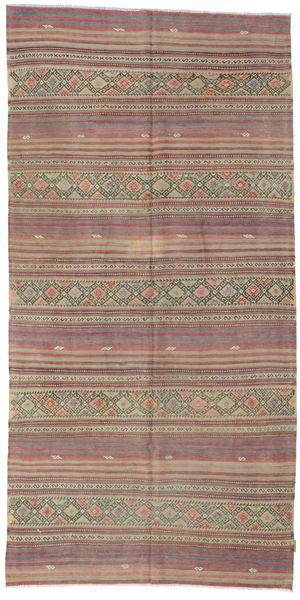 Kilim Semiantigua Turquía Alfombra 150X301 Oriental Tejida A Mano Marrón/Gris Oscuro (Lana, Turquía)