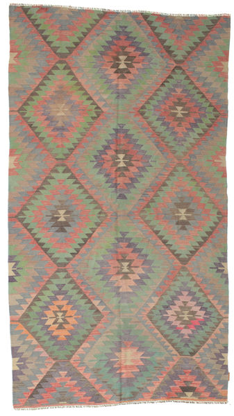 Kilim Semi Antique Turkish Rug 163X301 Authentic  Oriental Handwoven Dark Grey/Light Brown (Wool, Turkey)