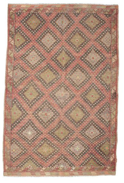 Kelim Semiantik Turkisk Matta 191X293 Äkta Orientalisk Handvävd Ljusbrun/Brun (Ull, Turkiet)