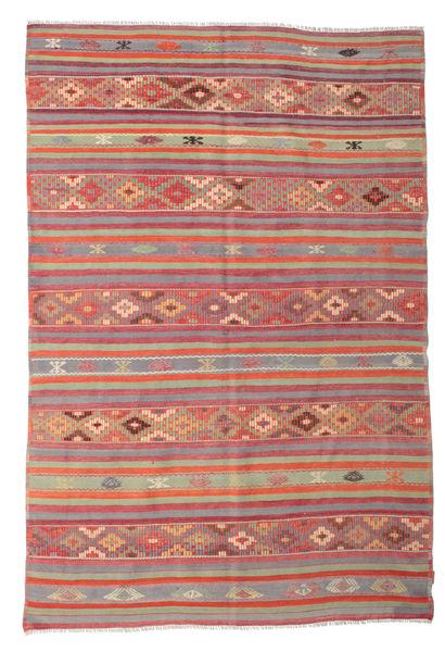 Kilim Semi Antique Turkish Rug 196X292 Authentic  Oriental Handwoven Rust Red/Brown (Wool, Turkey)