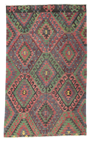 Kelim Halbantik Türkei Teppich  173X279 Echter Orientalischer Handgewebter Dunkelgrau/Lila (Wolle, Türkei)