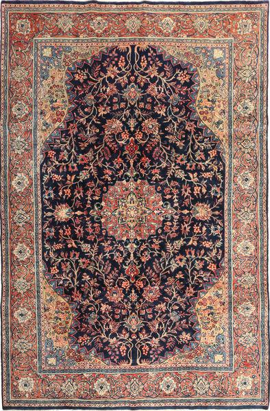 Keshan Rug 230X337 Authentic  Oriental Handknotted Dark Purple/Brown (Wool, Persia/Iran)