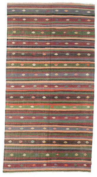 Kilim Pół -Antyk Tureckie Dywan 172X334 Orientalny Tkany Ręcznie Ciemnoszary/Brązowy (Wełna, Turcja)
