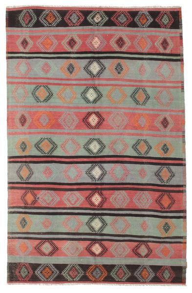 Kelim Semiantiikki Turkki Matto 186X290 Itämainen Käsinkudottu Vaaleanharmaa/Tummanruskea (Villa, Turkki)
