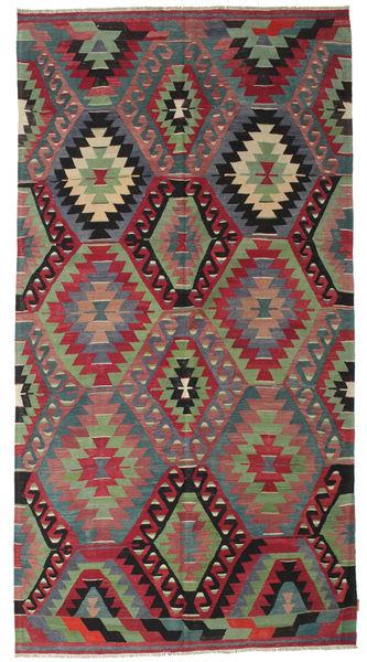 Kilim Semi Antique Turkish Rug 181X342 Authentic  Oriental Handwoven Dark Red/Dark Grey (Wool, Turkey)