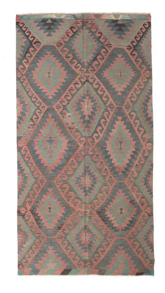 Kelim Semiantik Turkisk Matta 178X339 Äkta Orientalisk Handvävd Mörkgrå/Brun/Ljusbrun (Ull, Turkiet)