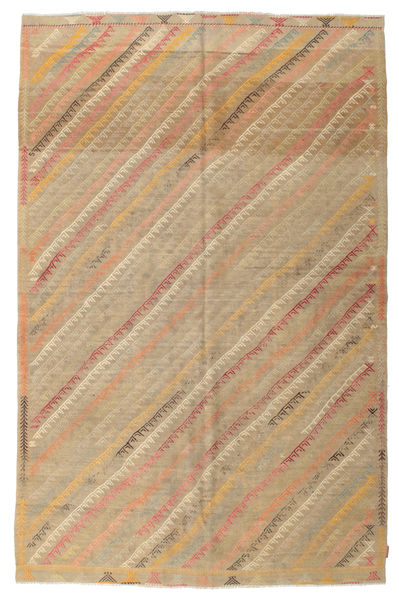 Kilim Semi Antique Turkish Rug 200X302 Authentic  Oriental Handwoven Light Brown/Dark Beige (Wool, Turkey)