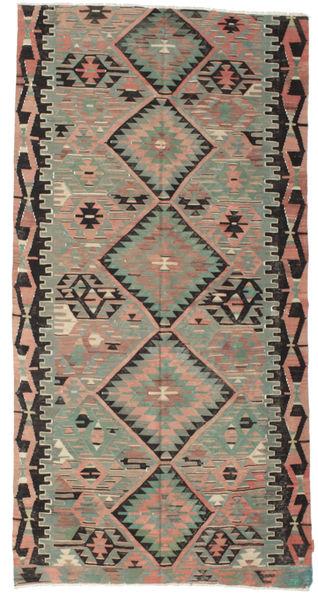 Kilim Pół -Antyk Tureckie Dywan 158X304 Orientalny Tkany Ręcznie Ciemnoszary/Jasnoszary (Wełna, Turcja)
