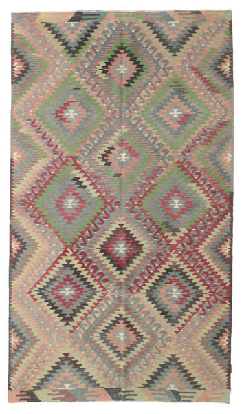 Kilim Semi Antique Turkish Rug 169X293 Authentic  Oriental Handwoven Dark Grey/Light Grey (Wool, Turkey)