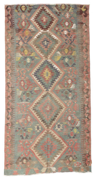 Kilim Semi Antique Turkish Rug 170X329 Authentic  Oriental Handwoven Light Brown/Light Grey (Wool, Turkey)
