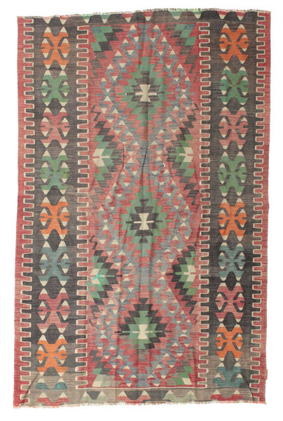 Kelim Semiantiikki Turkki Matto 162X244 Itämainen Käsinkudottu Tummanruskea/Tummanharmaa (Villa, Turkki)