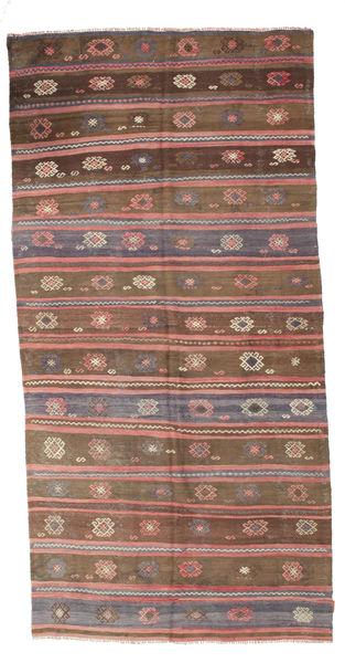 Kilim Pół -Antyk Tureckie Dywan 162X320 Orientalny Tkany Ręcznie Brązowy/Różowy (Wełna, Turcja)