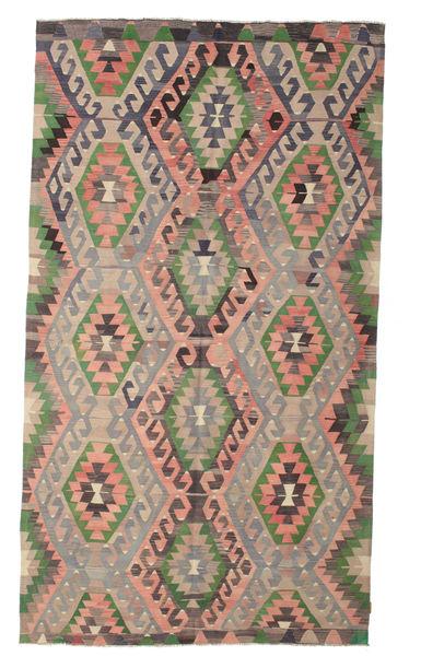 Kelim Semiantiikki Turkki Matto 193X344 Itämainen Käsinkudottu Vaaleanruskea/Tummanharmaa (Villa, Turkki)