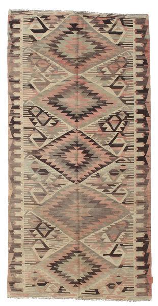 Kelim Semiantiikki Turkki Matto 150X295 Itämainen Käsinkudottu Vaaleanruskea/Tummanruskea (Villa, Turkki)