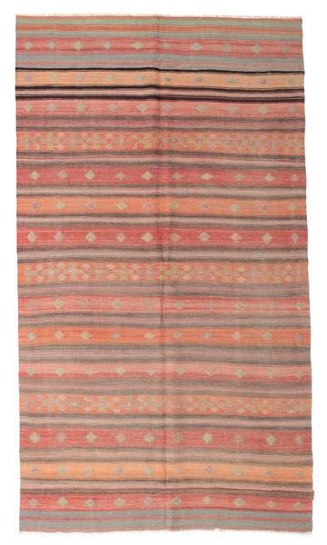 Kilim Semi Antique Turkish Rug 188X338 Authentic  Oriental Handwoven Light Pink/Light Brown/Dark Red (Wool, Turkey)
