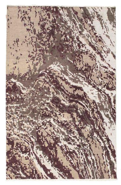Himalaya Teppe 177X280 Ekte Moderne Håndknyttet Lysbrun/Hvit/Creme (Ull, India)
