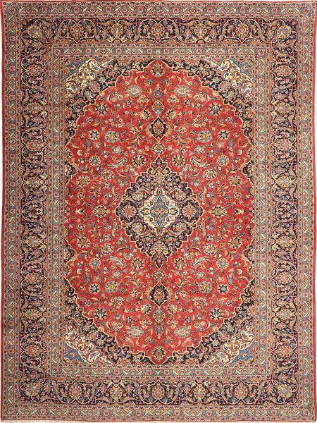 Keshan Tappeto 298X397 Orientale Fatto A Mano Marrone Chiaro/Blu Scuro Grandi (Lana, Persia/Iran)