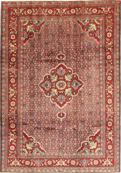 Zanjan Rug 210X300 Authentic  Oriental Handknotted Dark Red/Brown (Wool, Persia/Iran)