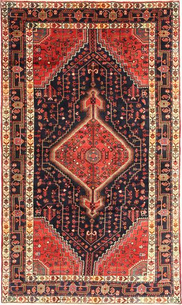 Nahavand Teppe 150X258 Ekte Orientalsk Håndknyttet Mørk Grønn/Mørk Rød (Ull, Persia/Iran)