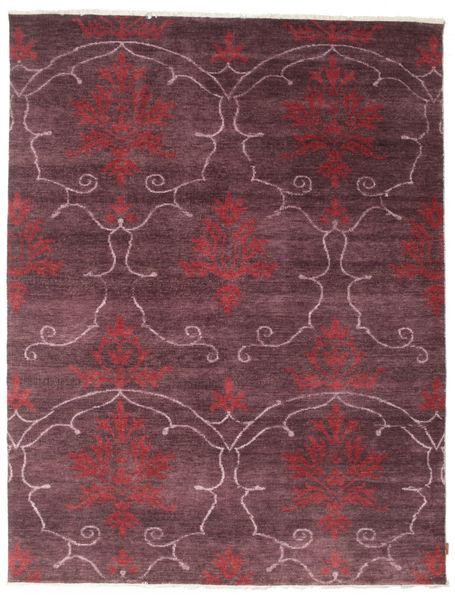 Himalaya Teppich  236X307 Echter Moderner Handgeknüpfter Dunkelbraun/Helllila (Wolle/Bambus-Seide, Indien)
