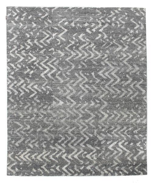 Himalaya Teppe 239X288 Ekte Moderne Håndknyttet Lys Grå/Mørk Grå (Ull/Bambus Silke, India)