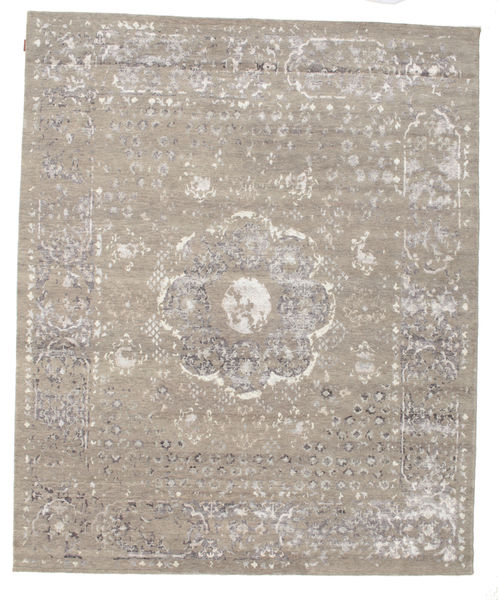 Himalaya Rug 253X307 Authentic  Modern Handknotted Light Grey Large (Wool/Bamboo Silk, India)